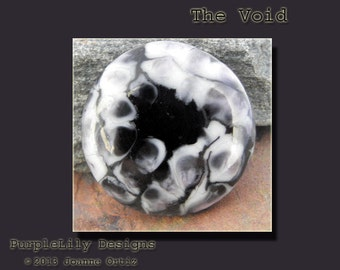 The Void, Lampwork Cabochon,ThePurpleLilyBeads,SRA
