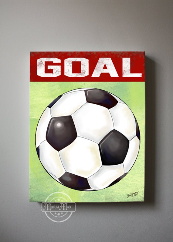 Soccer Wall Art Sports Nursery Canvas Art Soccer Sports Boy