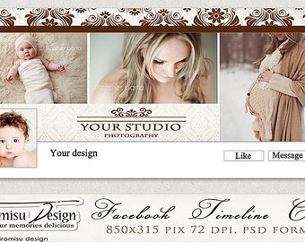 Facebook Timeline Cover Photoshop Template  vol.11. INSTANT DOWNLOAD