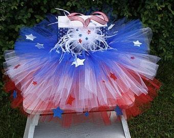 4th of July Tutu, Patriotic Tutu, Patriotic Dress, July 4th Dress, Red White and Blue Tutu Dress, Tu Tu, Tu Tu Dress, Independence Day
