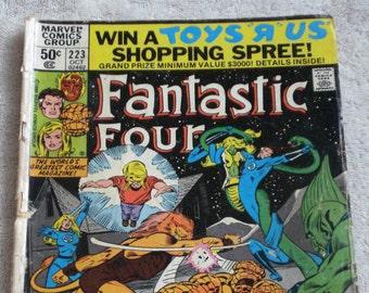 Fantastic Four Comic Book  Marvel Vol. 1, No. 223, October 1980