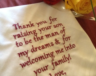 Father of The Groom  personalized cutom made handkerchief
