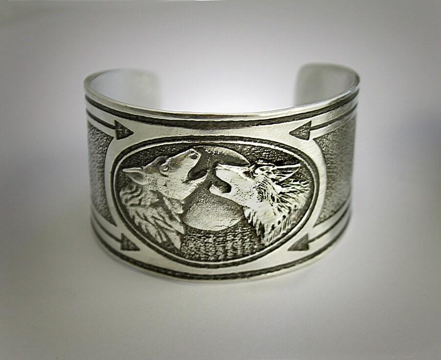 Wolf Bracelet Feed The Good Wolf Cuff Bracelet In