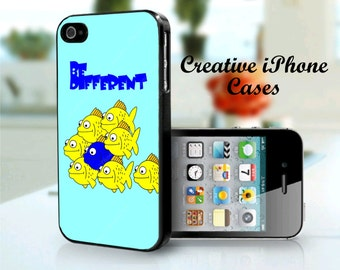 Be Different Fishes iPhone 4 Case, iPhone 4S Case, iPhone 4 Cover, iPhone 4S Cover