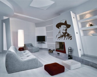 John Wayne Portrait - Wall Decal - Wall art Sticker