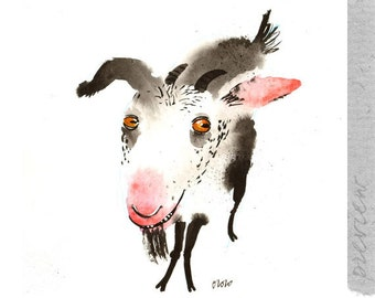 The Goat to Be, original painting by ozozo