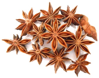 Star Anise Pods, Organic - Aromatic Tea - Beautiful in Potpourri - Hint of Licorice - Earthy Incense