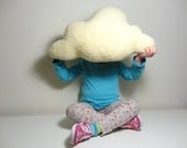 FLUFFY CLOUD PILLOW Cushion Cream Colour Faux Sheepskin Fleece Lovely soft and fluffy baby nursery childrens room home decoration