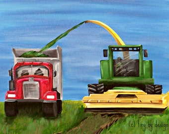 harvesting hay fine art print in standard sizes: 8x10 or 11x14