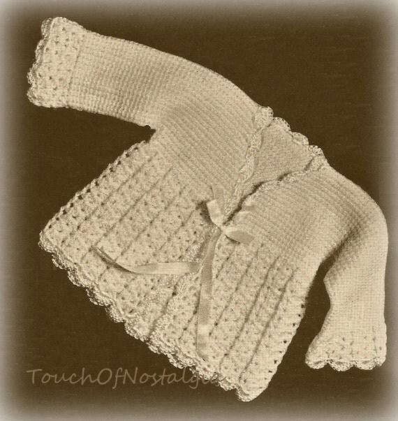 Crochet MATINEE COAT Vintage Crochet Pattern by ...