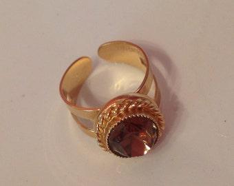 SARah COVentry Ring Amber Stone