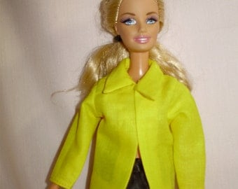 Barbie clothes - yellow jacket( on Sale)