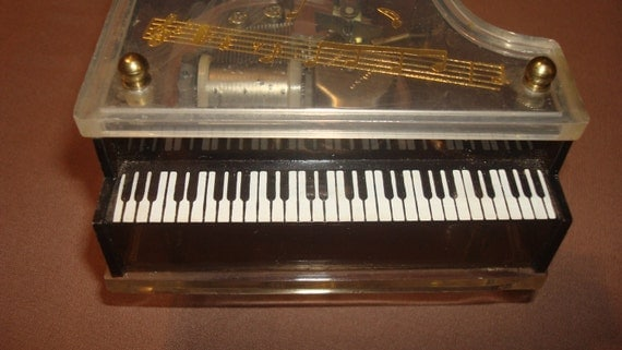 Baby Grand Piano Music Box Vintage By Therecycledgreenrose