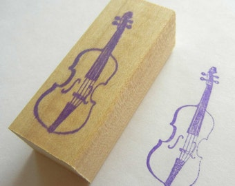 Musical Instrument Rubber Stamp Violin