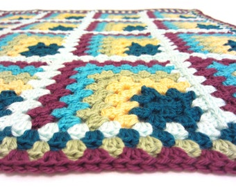 peacock feathers baby blanket - crochet baby blanket - custom made in your choice of colors - handmade by RockinLola