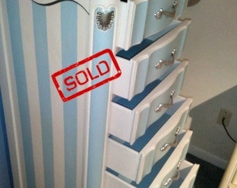 SOLD: Coastal French Provincial Lingerie Chest