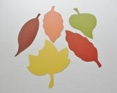 Thanksgiving Decor, Fall Wedding Wish Leaves, Large 4 inch  Paper Leaf Cutouts, Leaf Die Cuts, Scrapbook Embellishments, Wish Tags Set of 25