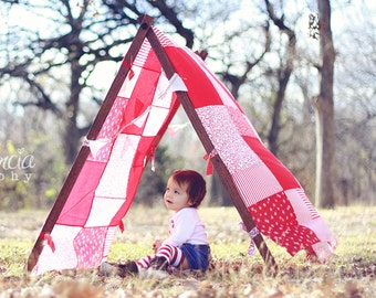 Kids Photo Props Tent Patchwork Cover Children Photography Prop Christmas Tent Cover Christmas Photo Prop Outdoor Photography Props