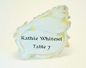 Sea Shell Place Card - Unique - Beach Wedding Place Card - Shell Escort Card - Customized - Shell