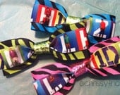 One Direction hair bows // zebra print - set of 3