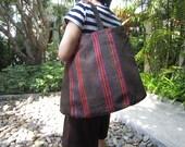 Hmong fabric tote - CHOZIdesign