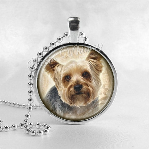 Yorkshire terrier necklace yorkie yorkshire terrier dog dog like this item aloadofball Gallery