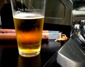 The Solution beer pint by Caloric Cuvee - gift for boyfriend - gift for dad - groomsmen - made in the USA