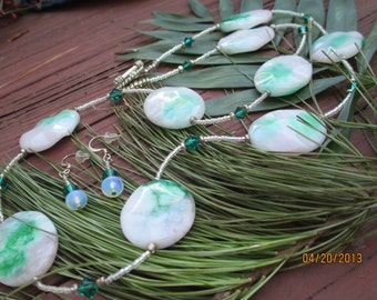 Candy Jade Necklace with Earrings