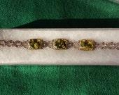 Vintage Acrylic Bracelet with Marcasites