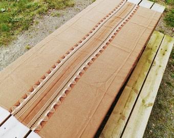 Vintage Danish Mid Century Woven Brown Table Cloth. / Danish Decor/ Danish Design / Mid Century Decor / Mid Century Modern / Table Ware