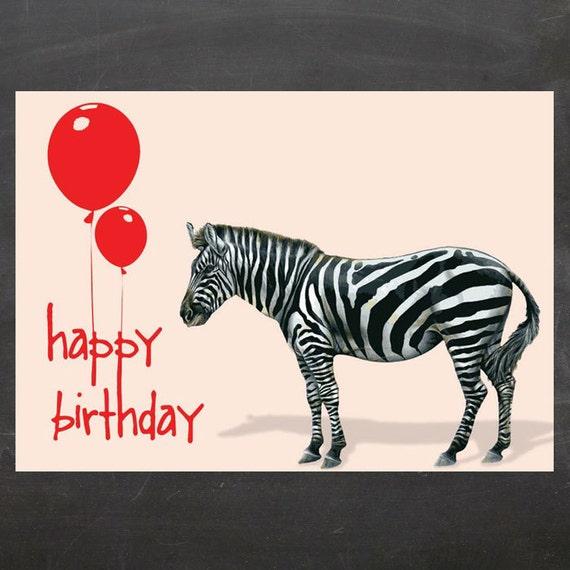 Happy Birthday Zebra On Etsy