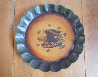 Vintage Americana Tray With Eagle and Crest