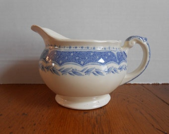 Vintage Grindley White and Blue Creamer from England