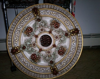 "23"" hand painted ceiling medallion"