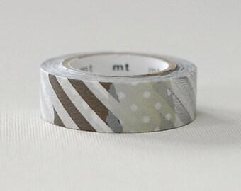 MT Brown Silver Washi Tape