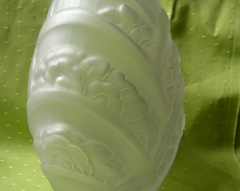 Art nouveau glass vase flower by MULLER frères Lunéville FRANCE famous french Nancy school 1920 Free shipping home decor