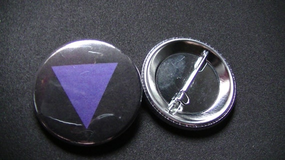 Purple With Black Triangle Buttons Lesbian Triangle LGBT
