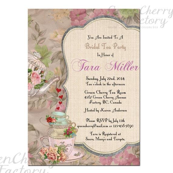 Items Similar To Shabby Spring Bridal Shower High Tea
