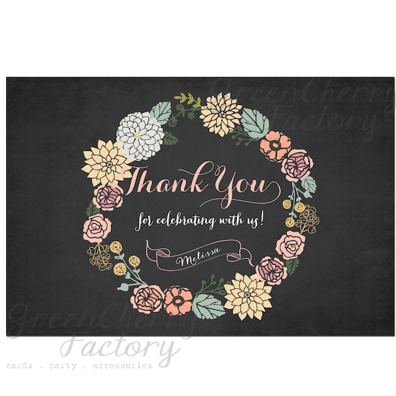 Vintage Baby Shower Thank You Cards: Items Similar To Personalized Thank You Card