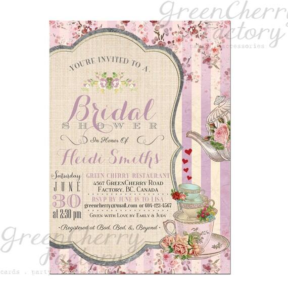 Items Similar To Bridal Tea Party Invitation