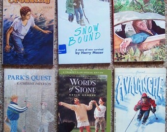 Teen Adventure Book Lot of 12 - Timothy of the Cay, The Crossing, Parks Quest, Snow Bound, Avalanche, Little Britches, Call It Courage