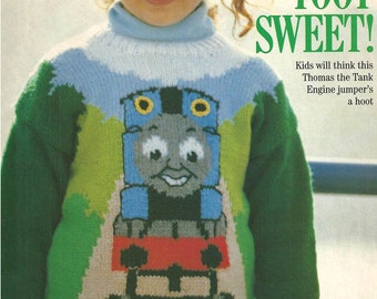 Thomas The Tank Full Steam Ahead Knitting Pattern Childs