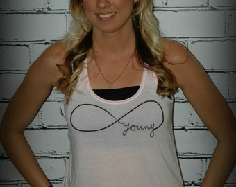 Forever Young -- Racerback Tank Top- Sizes S-XL. Other Colors Available