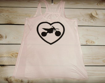 Moto Love- Racerback Tank Top- Sizes S-XL. Other Colors Available