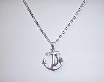 Nautical Silver Anchor Necklace