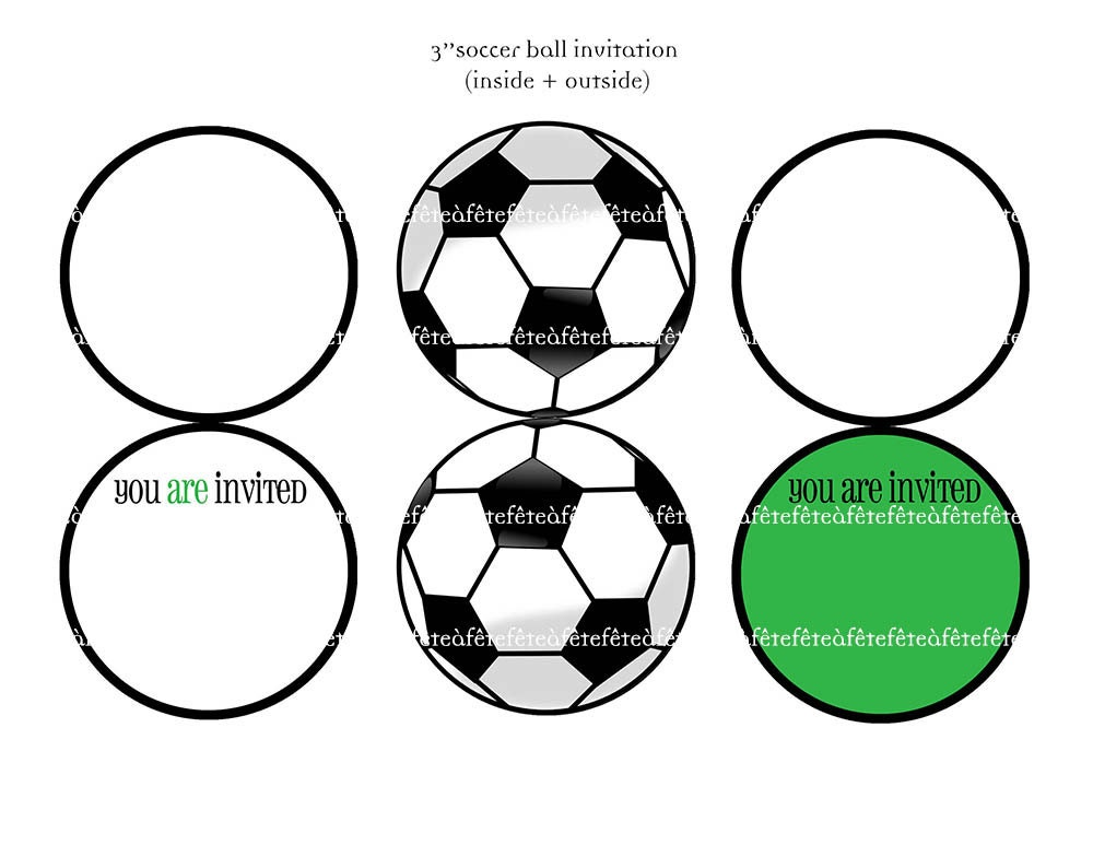 It is an image of Declarative Soccer Invitations Printable Free