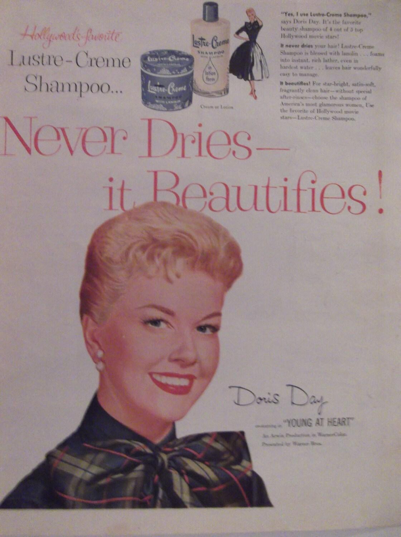 Lustre creme shampoo doris day celebrity movie star original for Lustre original