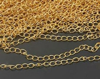 5 meters 3.1 mm necklace chain wide extension chain 16k gold plated jewelry chain
