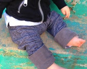 Baby Boy Herringbone Pants with Large Corduroy Cuffs