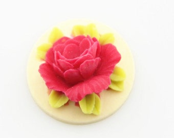 12 Pcs of Resin flower cabochon 18mm-RC0135-33